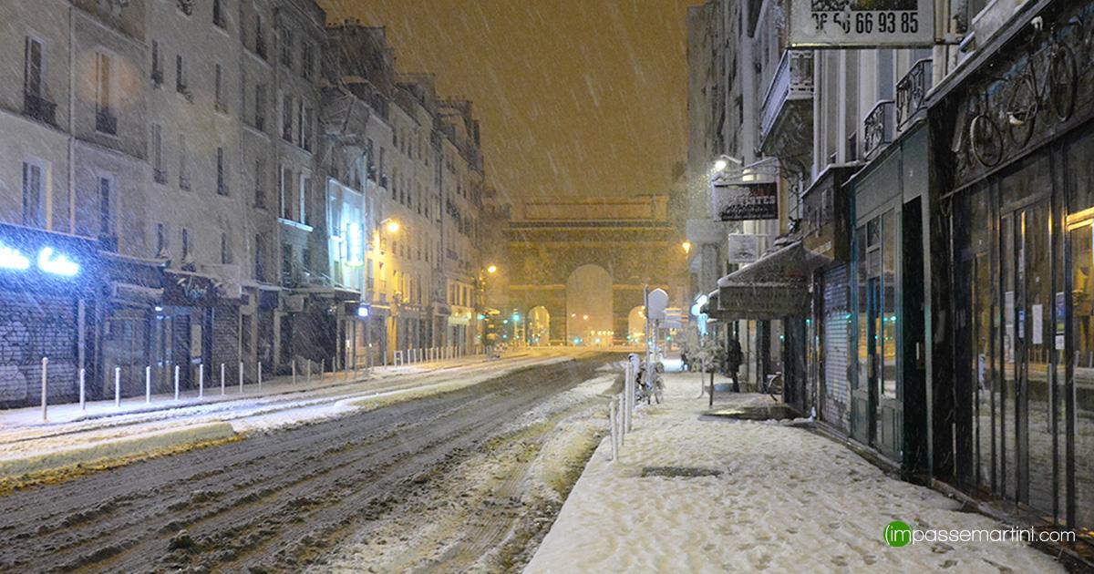 Impasse Martini les premières neige 2018