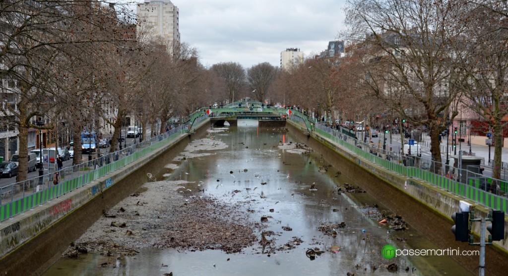 Le canal st Martin mis à la sèche