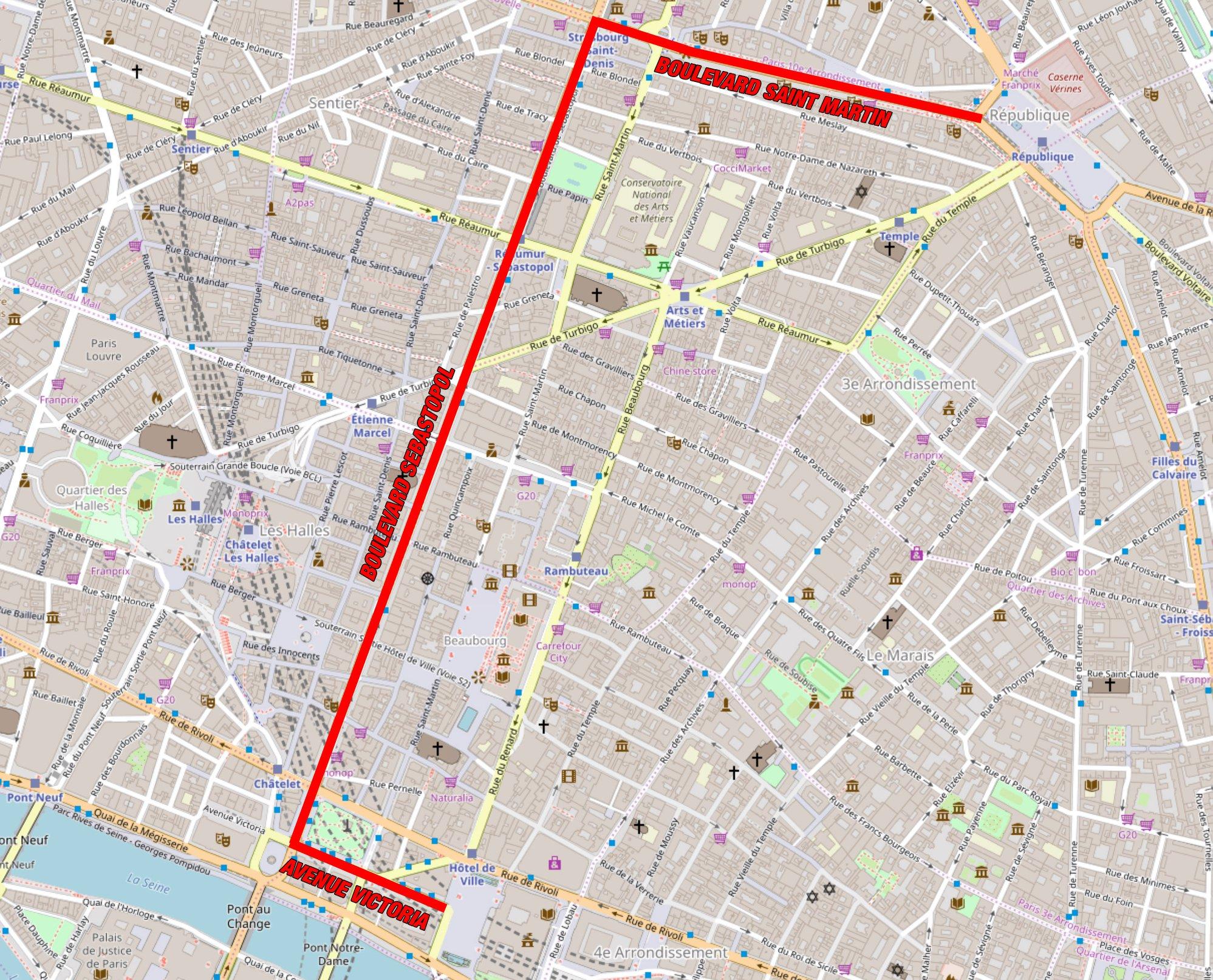 Parcours de la Marche pour le Climat Paris 2018
