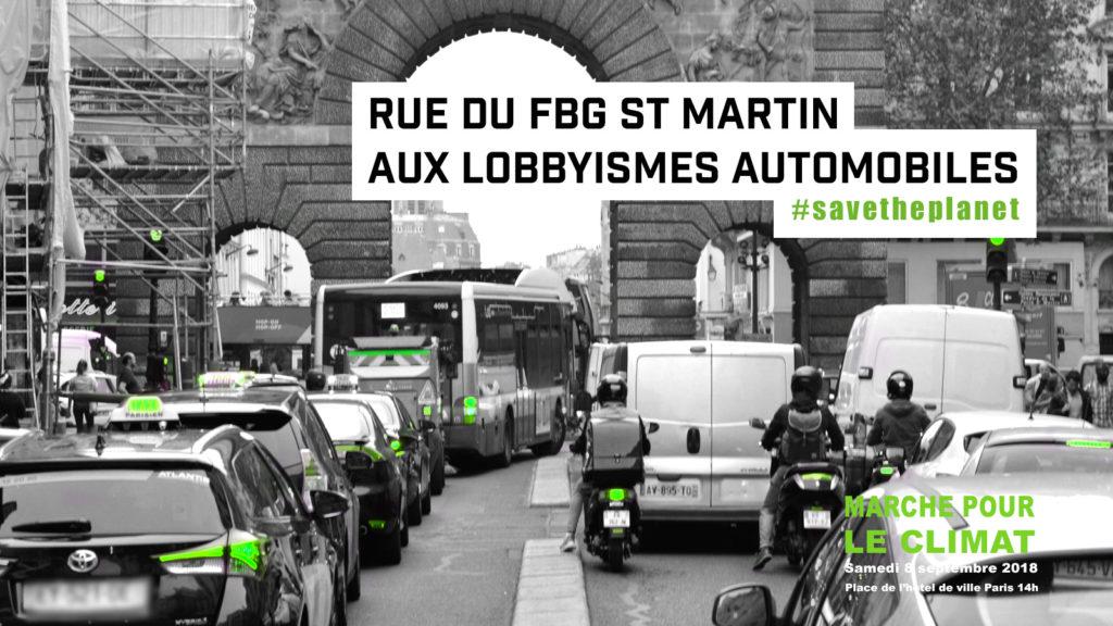 Rue du Fbg St Martin aux lobbyismes automobiles #savetheplanet