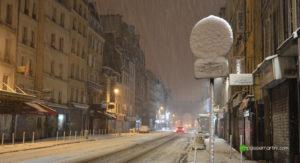 Rue du faubourg st Martin Paris
