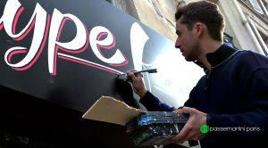 Peintre en lettre