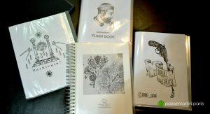 Salon de tatouage cahier de dessins