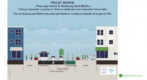 Inversion du sens de la circulation, association les portes du 10e et Paris en Selle