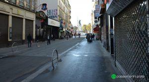 Mobiliers urbain. Rue du faubourg du Temple