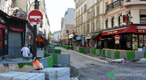 Chantier. Rue du faubourg du Temple