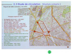 """Report du trafic """"scénario deux"""""""