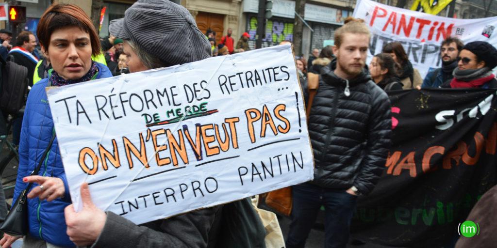 Manifestation contre la réforme des retraites