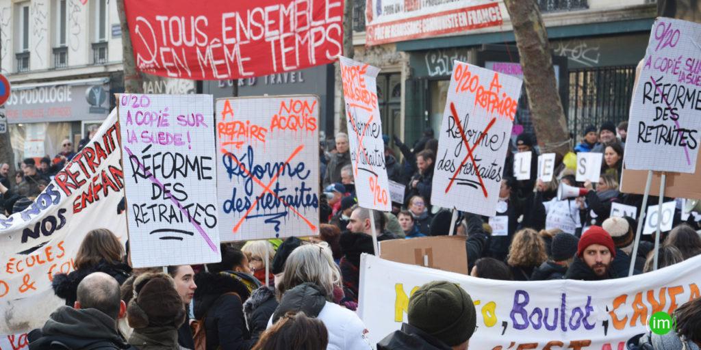 Manifestation contre les réformes de la retraite