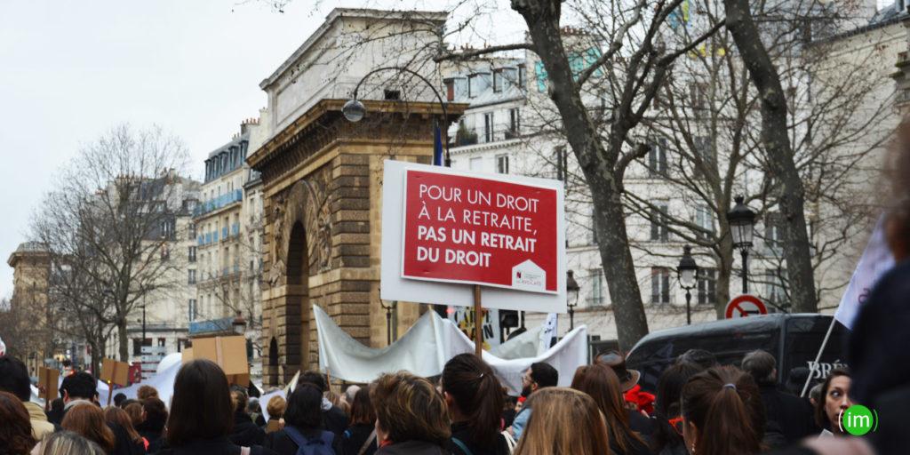 Manifestation contre la réforme des retraites le 3 fevrier 2020