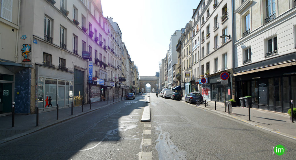 Rue du faubourg aint Martin coronavirus