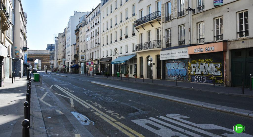Rue du faubourg Saint Martin coronavirus