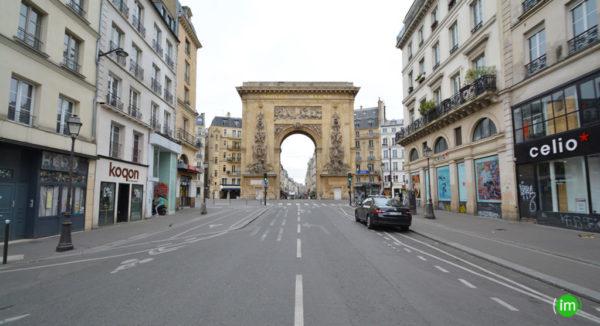 Porte St Denis vue de la rue St Denis