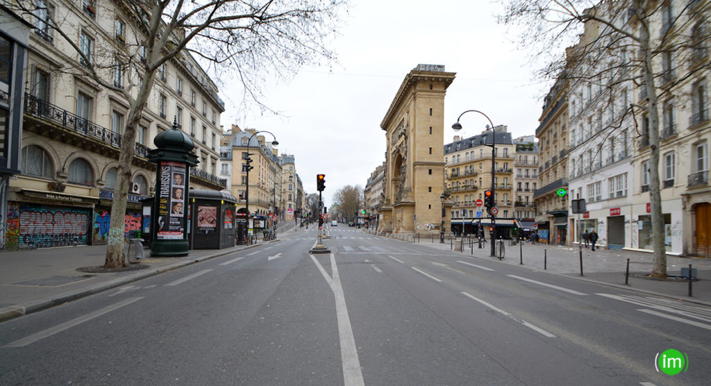 Porte St Denis vu du boulevard St Martin
